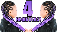 feed in braids invisible cornrows how to braid your own hair for beginners