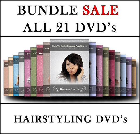 ALL 21 HAIRSTYLING DVD'S (BUNDLE DEAL)