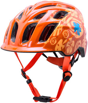 Orange kid's mountain biking helmet