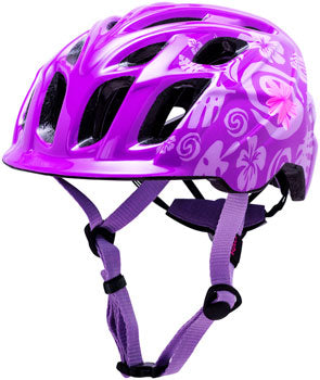 Purple kid's mountain biking helmet