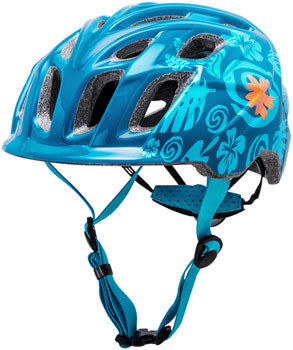 Teal kid's mountain biking helmet