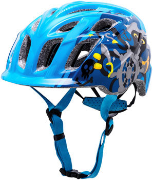 Blue kid's mountain biking helmet