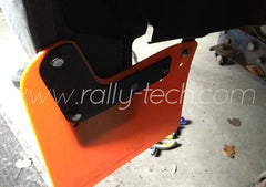 4MM POLYURETHANE MUDFLAP KIT - IMPREZA GR/GV (08-13) - ORANGE - AWD RETRO LOGO