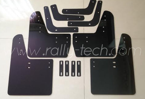 4MM POLYURETHANE MUDFLAP KIT - LANCER EVO 5 & 6 - BLACK - NO LOGO