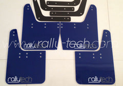 4MM POLYURETHANE MUDFLAP KIT - IMPREZA GC/GM/GF (93-01) - BLUE - NEW LOGO GREY