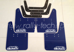 4MM POLYURETHANE MUDFLAP KIT - IMPREZA GC/GM/GF (93-01) - BLUE - AWD RETRO