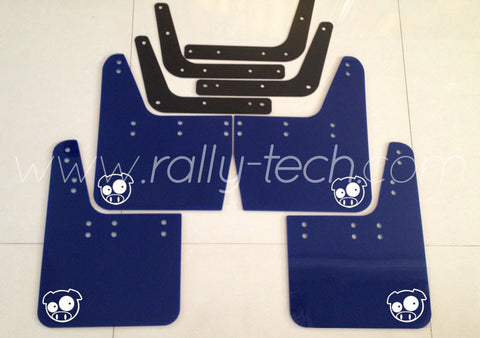4MM POLYURETHANE MUDFLAP KIT - IMPREZA GC/GM/GF (93-01) - BLUE - PIG