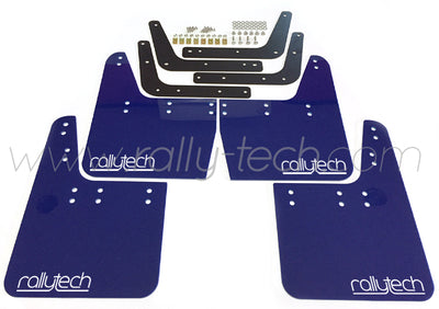 4MM POLYURETHANE MUDFLAP KIT - IMPREZA GC/GM/GF (93-01) - BLUE - RALLYTECH