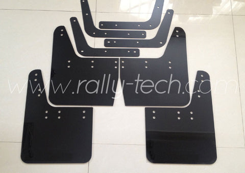 4MM POLYURETHANE MUDFLAP KIT - IMPREZA GC/GM/GF (93-01) - BLACK - NO LOGO