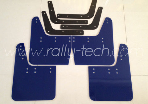 4MM POLYURETHANE MUDFLAP KIT - IMPREZA GC/GM/GF (93-01) - BLUE - NO LOGO