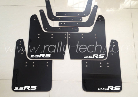 4MM POLYURETHANE MUDFLAP KIT - IMPREZA GC/GM/GF (93-01) - BLACK - 2.5RS