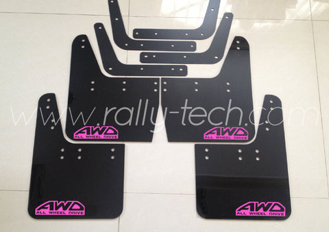 4MM POLYURETHANE MUDFLAP KIT - IMPREZA GC/GM/GF (93-01) - BLACK - AWD RETRO