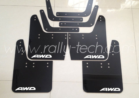 4MM POLYURETHANE MUDFLAP KIT - IMPREZA GC/GM/GF (93-01) - BLACK - AWD