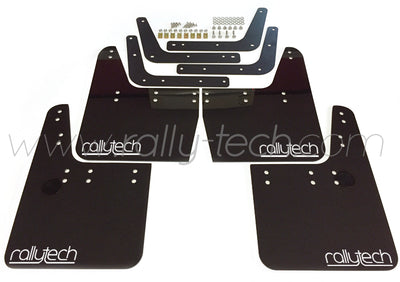 4MM POLYURETHANE MUDFLAP KIT - IMPREZA GC/GM/GF (93-01) - BLACK - RALLYTECH