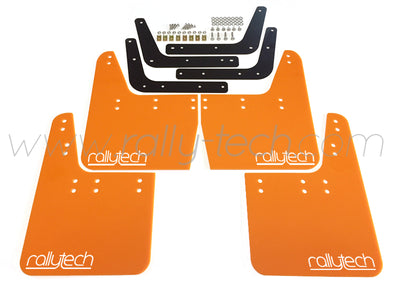 4MM POLYURETHANE MUDFLAP KIT - IMPREZA GC/GM/GF (93-01) - ORANGE - RALLYTECH