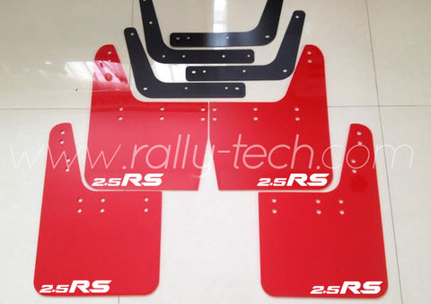 4MM POLYURETHANE MUDFLAP KIT - IMPREZA GC/GM/GF (93-01) - RED, 2.5RS