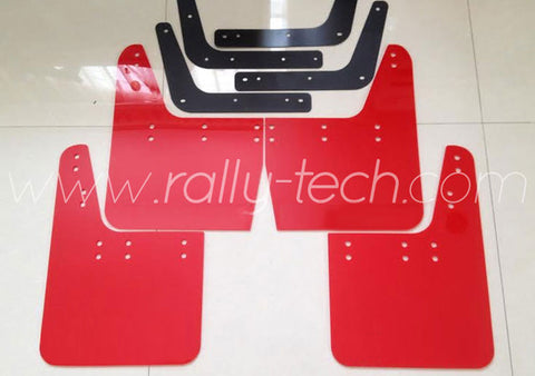 4MM POLYURETHANE MUDFLAP KIT - IMPREZA GC/GM/GF (93-01) - RED - NO LOGO