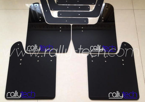 4MM POLYURETHANE MUDFLAP KIT - IMPREZA GD/GG (02-07) - BLACK - NEW LOGO