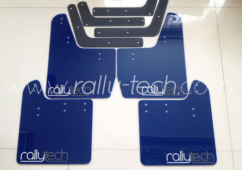 4MM POLYURETHANE MUDFLAP KIT - IMPREZA GD/GG (02-07) - BLUE - NEW LOGO GREY