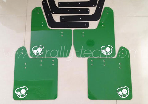 3MM POLYURETHANE MUDFLAP KIT - IMPREZA GC/GM/GF - GREEN
