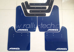 4MM POLYURETHANE MUDFLAP KIT - IMPREZA GD/GG (02-07) - BLUE - AWD