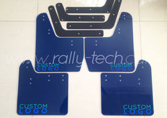 4MM POLYURETHANE MUDFLAP KIT - IMPREZA GD/GG (02-07) - BLUE CUSTOM LOGO