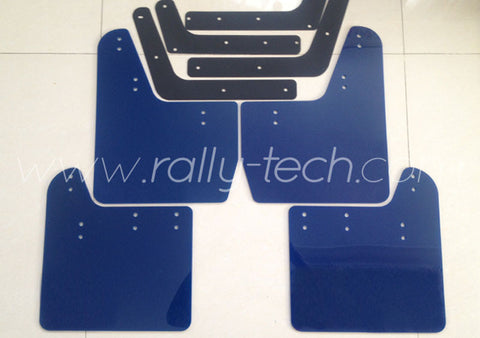 4MM POLYURETHANE MUDFLAP KIT - IMPREZA GD/GG (02-07) - BLUE - NO LOGO