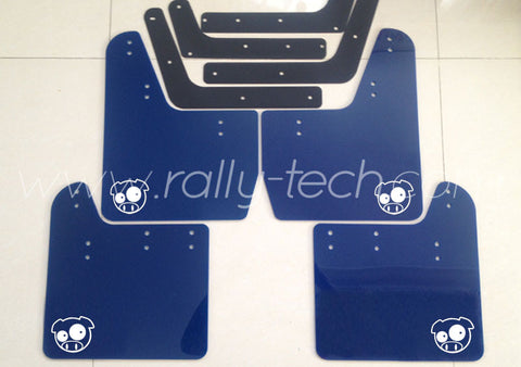 4MM POLYURETHANE MUDFLAP KIT - IMPREZA GD/GG (02-07) - BLUE - PIG