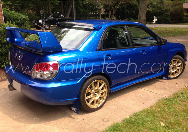 4MM POLYURETHANE MUDFLAP KIT - IMPREZA GD/GG (02-07) - BLUE - AWD RETRO