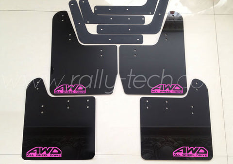 4MM POLYURETHANE MUDFLAP KIT - IMPREZA GD/GG (02-07) - BLACK - AWD RETRO