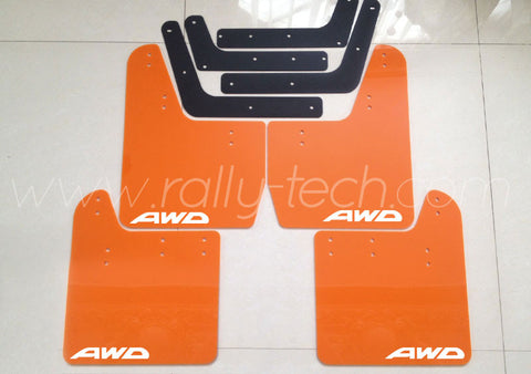 4MM POLYURETHANE MUDFLAP KIT - IMPREZA GD/GG (02-07) - ORANGE - AWD