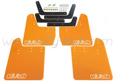 4MM POLYURETHANE MUDFLAP KIT - IMPREZA GD/GG (02-07) - ORANGE - RALLYTECH
