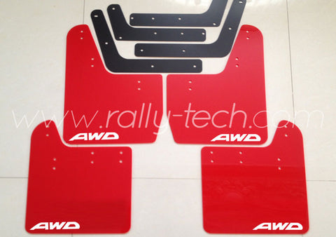 4MM POLYURETHANE MUDFLAP KIT - IMPREZA GD/GG (02-07) - RED - AWD