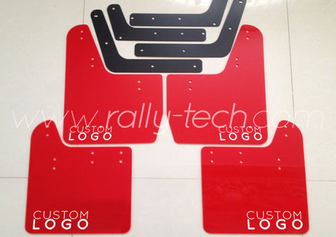 4MM POLYURETHANE MUDFLAP KIT - IMPREZA GD/GG (02-07) - RED CUSTOM LOGO