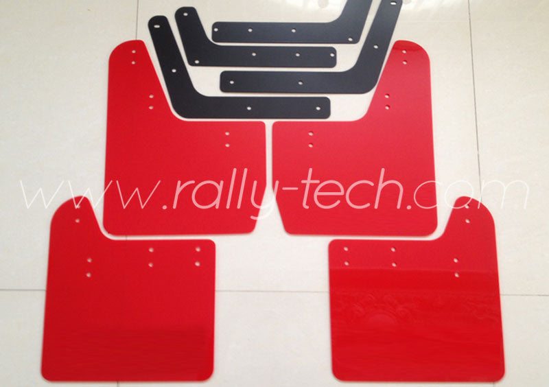 4MM POLYURETHANE MUDFLAP KIT - IMPREZA GD/GG (02-07) - RED - NO LOGO