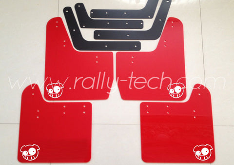 4MM POLYURETHANE MUDFLAP KIT - IMPREZA GD/GG (02-07) - RED - PIG