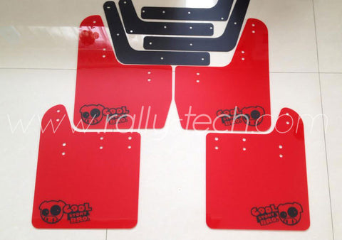 4MM POLYURETHANE MUDFLAP KIT - IMPREZA GD/GG (02-07) - RED, BLACK COOL STORY
