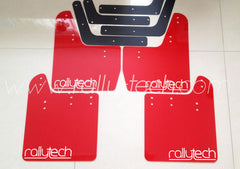 4MM POLYURETHANE MUDFLAP KIT - IMPREZA GD/GG (02-07) - RED - NEW LOGO WHITE