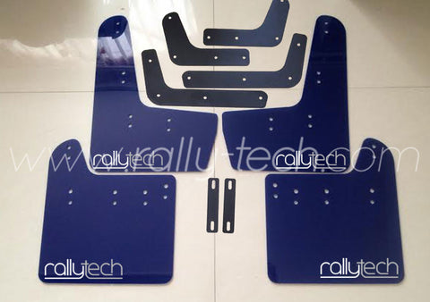 4MM POLYURETHANE MUDFLAP KIT - IMPREZA GR/GV (08-13) - BLUE - NEW LOGO
