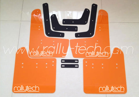 4MM POLYURETHANE MUDFLAP KIT - IMPREZA GR/GV (08-13) - ORANGE - NEW LOGO
