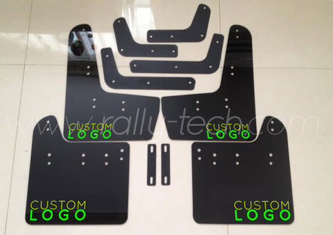 4MM POLYURETHANE MUDFLAP KIT - IMPREZA GR/GV (08-13) - BLACK - CUSTOM LOGO