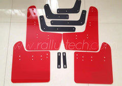 4MM POLYURETHANE MUDFLAP KIT - IMPREZA GR/GV (08-13) - RED - NO LOGO