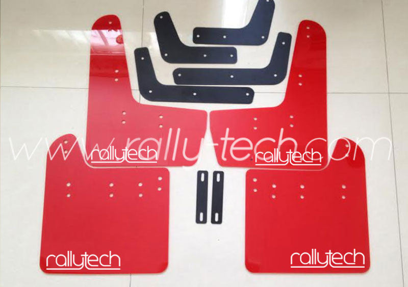 4MM POLYURETHANE MUDFLAP KIT - IMPREZA GR/GV (08-13) - RED - NEW LOGO