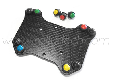 STEERING WHEEL BUTTON KIT COMPACT V2 - UNIVERSAL - CARBON FIBER - 8 BUTTON