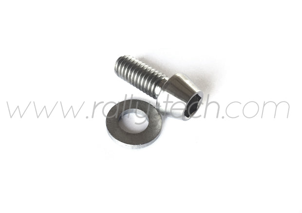 M6x15mm BOLTS & WASHERS - TITANIUM Ti Gr5 - 5 PACK
