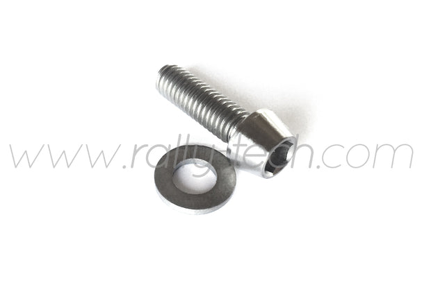 M6x20mm BOLTS & WASHERS - TITANIUM Ti Gr5 - 5 PACK
