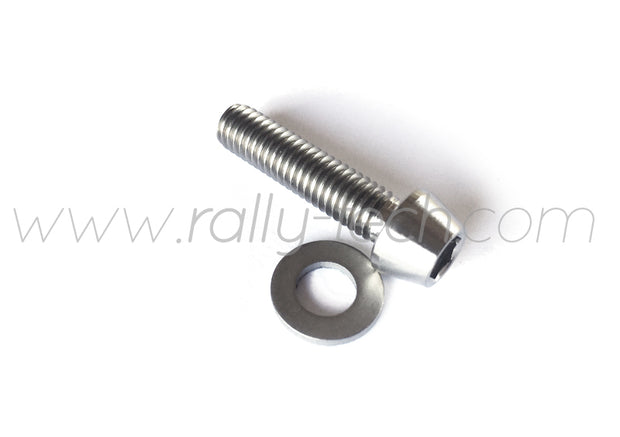 M6x25mm BOLTS & WASHERS - TITANIUM Ti Gr5 - 5 PACK