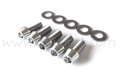 M8x20mm BOLTS & WASHERS - TITANIUM Ti Gr5 - 5 PACK