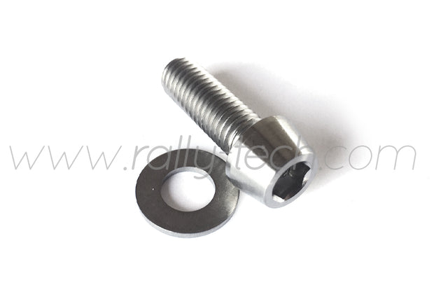 M8x25mm BOLTS & WASHERS - TITANIUM Ti Gr5 - 5 PACK