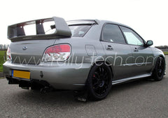 4MM POLYURETHANE MUDFLAP KIT - IMPREZA GD/GG (02-07) - BLACK - AWD
